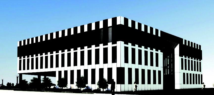 Wizualizacja instalacji PV na budynku inkubatora Fundacji Rozwoju Lubelszczyzny